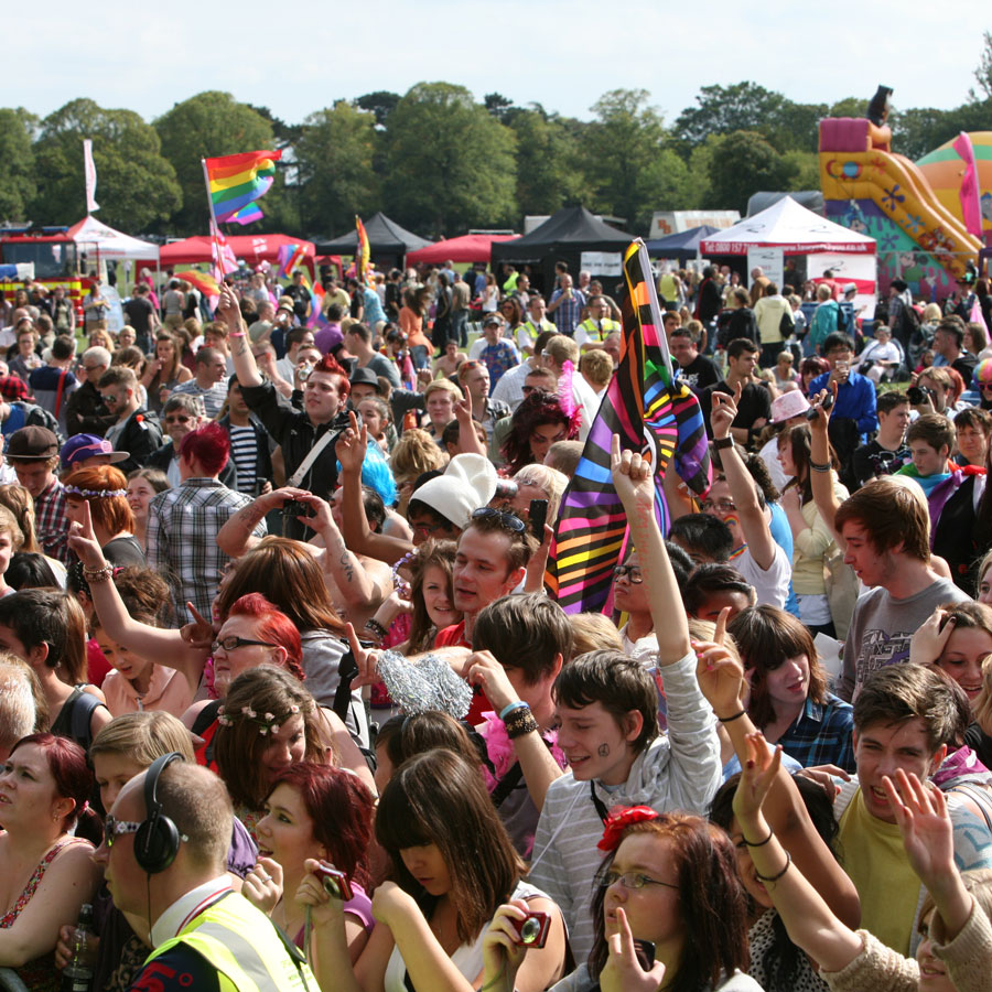 Leicester Gay Pride Festival Crowd